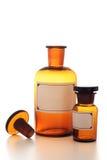 Botella del producto químico de la vendimia Fotografía de archivo libre de regalías