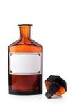Botella del producto químico de la vendimia Foto de archivo