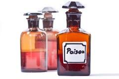 Botella del veneno Imágenes de archivo libres de regalías