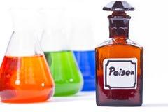 Botella del veneno Fotografía de archivo libre de regalías