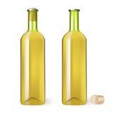 Botella del vino blanco Fotografía de archivo