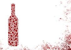 Botella del vino blanco Fotografía de archivo libre de regalías