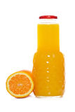 Botella del zumo de naranja Foto de archivo libre de regalías