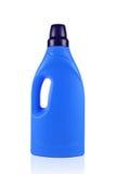 Botella detergente azul Foto de archivo libre de regalías