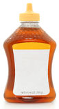 Botella en blanco de la escritura de la etiqueta de miel Fotos de archivo