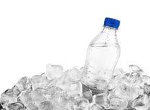 Botella en hielo Fotos de archivo libres de regalías