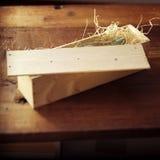 Botella en un rectángulo de madera fotografía de archivo libre de regalías