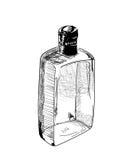 Botella a mano del alcohol Fotos de archivo libres de regalías