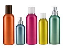 Botella multicolora cosmética Fotos de archivo libres de regalías