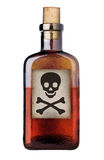 Botella pasada de moda del veneno. Imagen de archivo