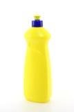 Botella plástica amarilla Fotografía de archivo libre de regalías