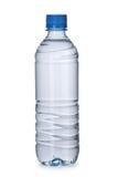 Botella plástica con agua Fotos de archivo