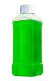 Botella plástica con el líquido de la limpieza Imagen de archivo libre de regalías