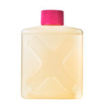 Botella plástica con la solución química tóxica Imagen de archivo libre de regalías