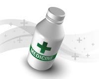 Botella plástica de la medicina aislada Imagenes de archivo