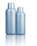 Botella plástica en blanco fotografía de archivo libre de regalías