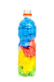 Botella plástica por completo de las bolsas de plástico Foto de archivo libre de regalías