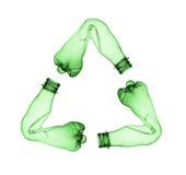 Botella plástica usada Foto de archivo