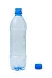 Botella plástica vacía Fotografía de archivo