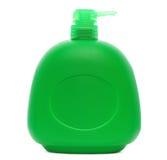 Botella plástica verde Imagen de archivo