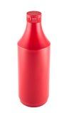 Botella platic del souce de la salsa de tomate sobre el fondo blanco Imagen de archivo libre de regalías