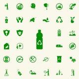 botella que recicla el icono verde sistema universal de los iconos de Greenpeace para el web y el móvil ilustración del vector
