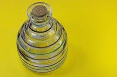 Botella rayada de cristal Imagen de archivo libre de regalías