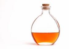 Botella redonda de petróleo Imagen de archivo libre de regalías