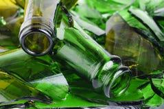 Botella rota Imagenes de archivo