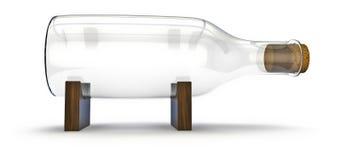 Botella sin una nave Imagen de archivo libre de regalías