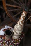 Botella tradicional de vino Imagen de archivo libre de regalías