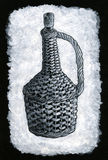 Botella trenzada Fotografía de archivo libre de regalías
