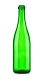 Botella vacía de champán aislada Imagenes de archivo