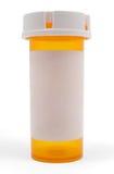 Botella vacía de la medicina Imagen de archivo libre de regalías