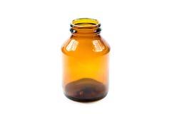 Botella vacía de la medicina Imágenes de archivo libres de regalías