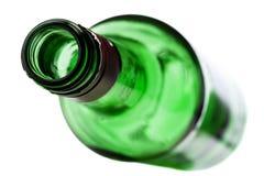 Botella vacía del alcohol fotos de archivo