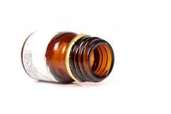 Botella vacía de la medicina Fotografía de archivo