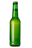 Botella verde con el líquido Imagen de archivo