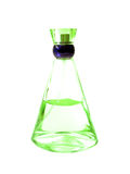 Botella verde de perfume Fotos de archivo libres de regalías