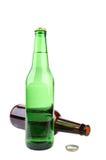 Botella verde y marrón Fotos de archivo libres de regalías
