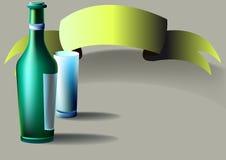 Botella, vidrio, cinta Fotos de archivo