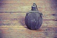 Botella vieja del ejército Imagen de archivo libre de regalías