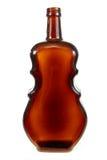 Botella violín-formada vacía de la vid Foto de archivo libre de regalías