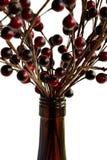 Botella y bayas de vino Fotos de archivo libres de regalías