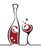 Botella y vidrio Imagen de archivo