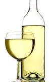 Botella y vidrio imagen de archivo libre de regalías