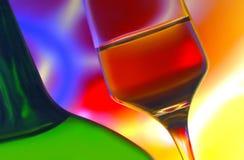 Botella y vidrio de vino Imagen de archivo