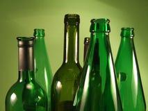 Botellas 1 del verde Imágenes de archivo libres de regalías