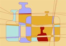 Botellas abstractas Imágenes de archivo libres de regalías