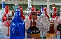 Botellas antiguas de la bebida Fotografía de archivo